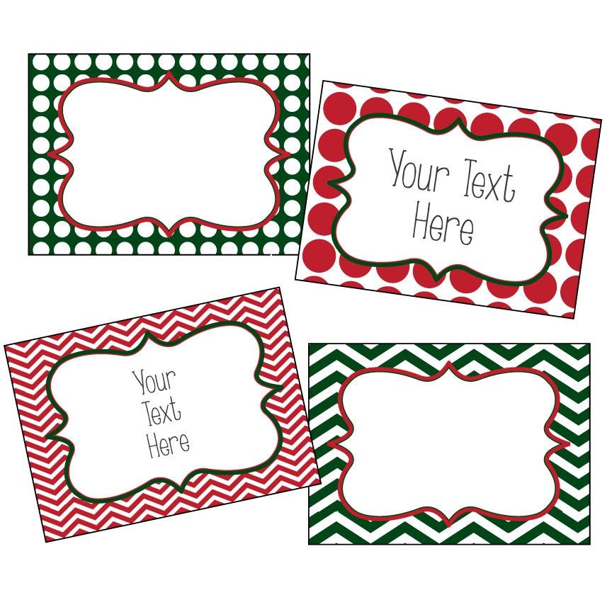 Christmas labels editable christmas labels chevron and for Free printable editable christmas gift tags