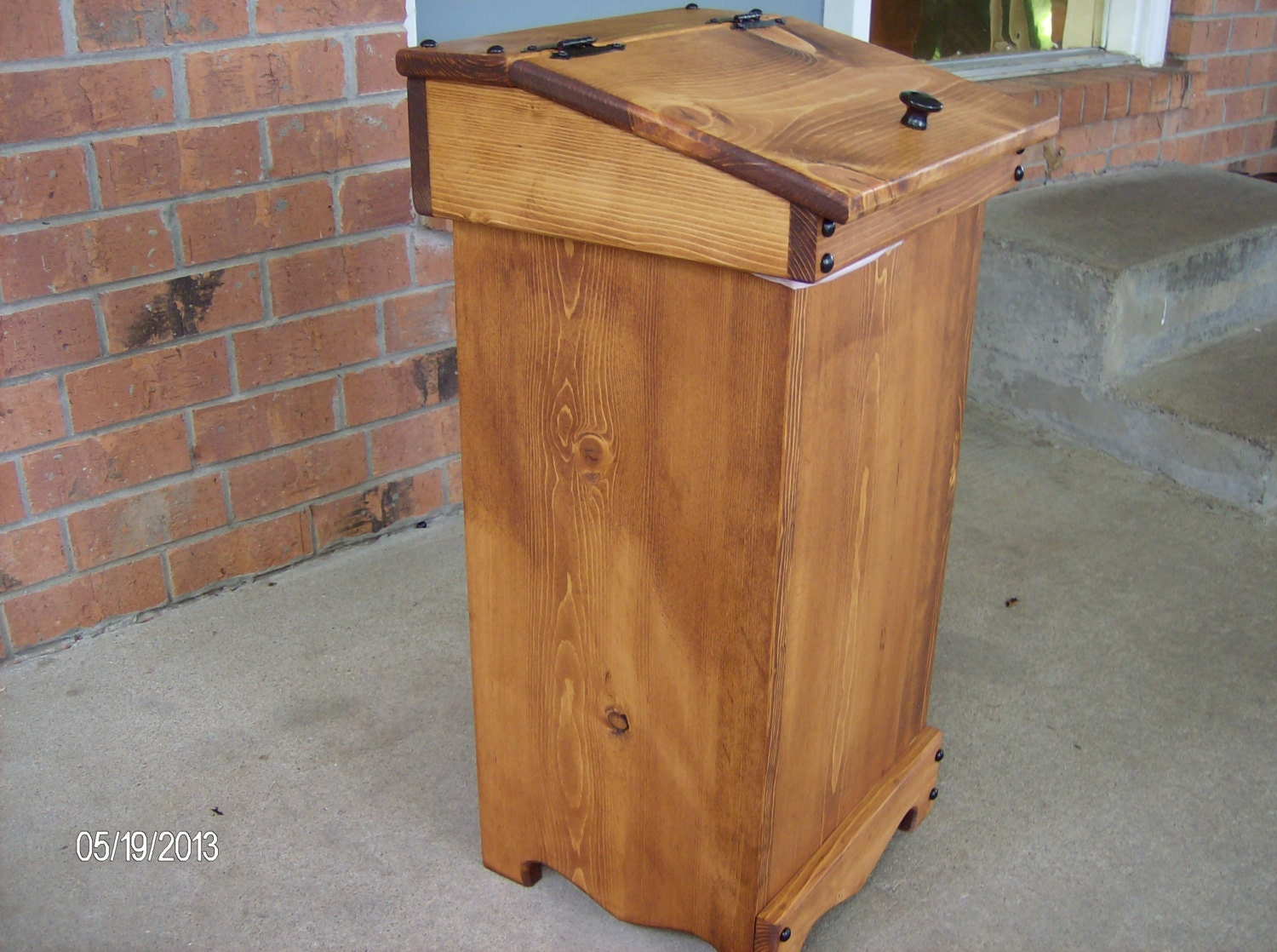 Wood wooden trash can bin New handcrafted by jmlwoods on Etsy