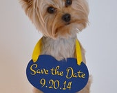 My Humans are getting Married Save the Date Sign Heart Signs Photography Props Enagement Pictures Wedding Small Dog Ring Bearer Flower Girl - RusticNaturalBeauty
