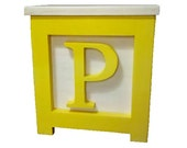 Wooden Block Step Stool Yellow - Made to Order - PJsCraftingCorner