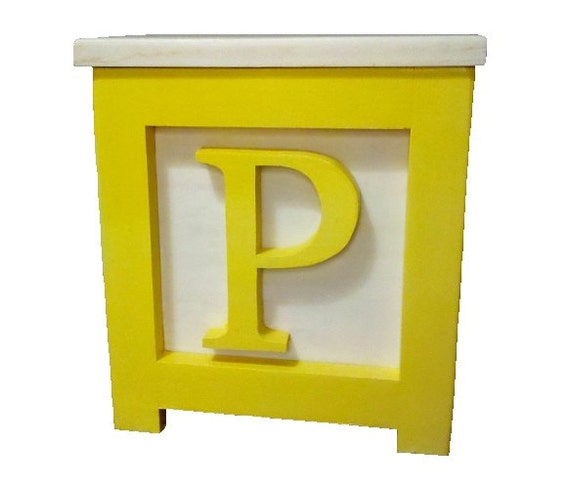 Wooden Block Step Stool Yellow Made To Order By
