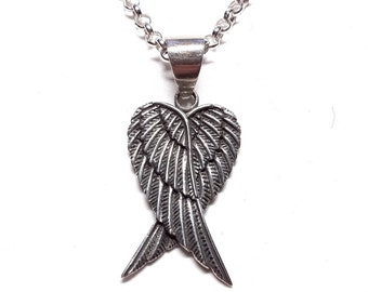 Angel Wings Sterling Silver Pendant