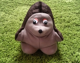 Hedgehog plush / Hedgehog pillow / Hedgehog stuffed animal made from soft brown fleece fabric
