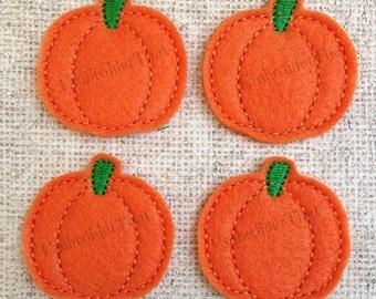 UNCUT Pumpkin felt applique embellishment felties (4)