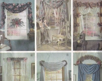 Simpicity 7721 Vintage Pattern Home Decor Valance Pattern in 6 Variations UNCUT