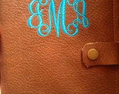 3rd Anniversary Gift for her, Leather Journal, Personalized