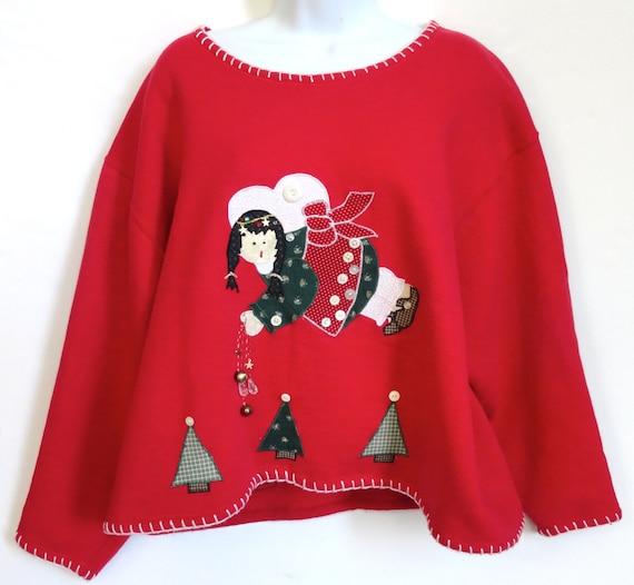 Tacky Country Christmas Sweater Sweatshirt Susan Sembera Original
