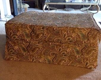 Custom made Ottoman slipcover