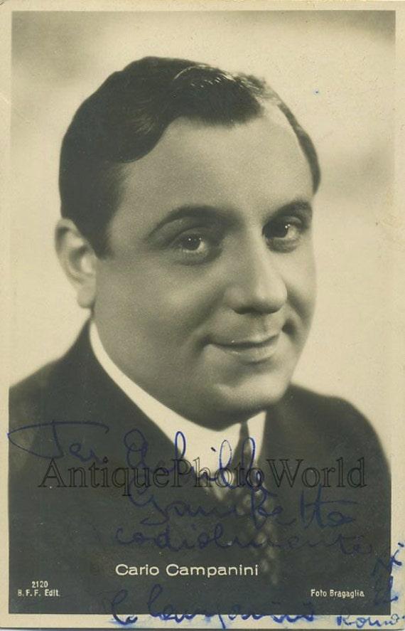 Carlo Campanini Italian Actor Antique Hand Signed Autographed