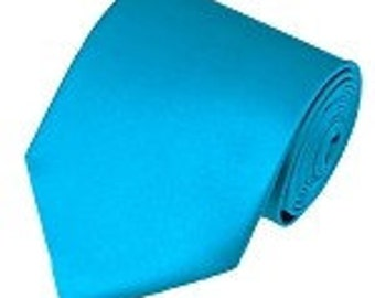 mens  turquoise  necktie custom made many colors