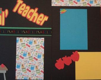 SALE - My Lil' Teacher 2 page 12x12 scrapbook kit