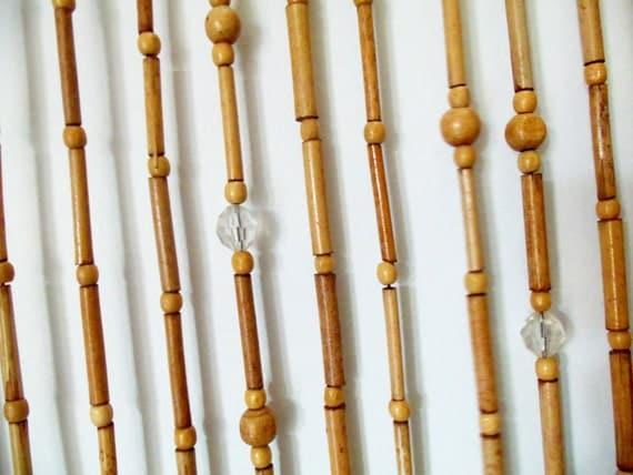 t r vorhang bambus vorhang bambus holz perlen vorhang macrame. Black Bedroom Furniture Sets. Home Design Ideas