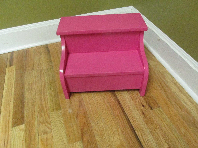kids wood step stool pink. Black Bedroom Furniture Sets. Home Design Ideas