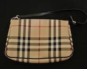 Authentic Burberry Nova check clutch purse