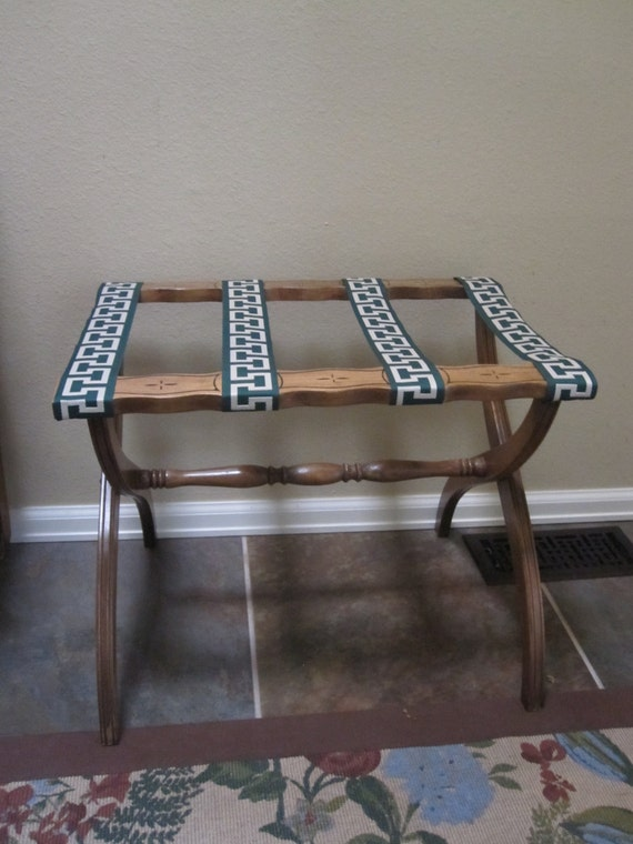 Vintage Luggage Rack Mid Century Mod By Folkaltered On Etsy