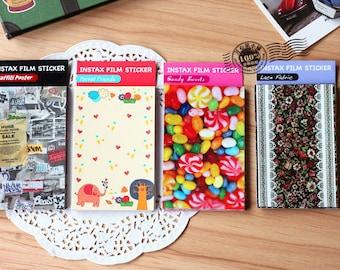 4 packs Waterproof Film Skin Sticker Set - photo Sticker - Deco Sticker - frame Sticker - 4 Styles in