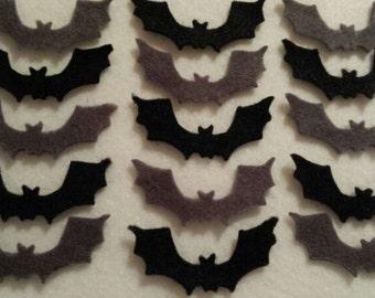 Felt diecut Bats appliqué toppers Sizzix Halloween Goth Church