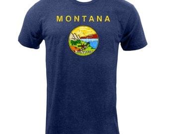 Montana State Flag - Tri Indigo