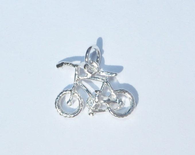 925 Genuine Silver Bicycle Charm - 92.5% Sterling Necklace Weddings Christening Bride Bridesmaid 21st 16 Birthday Gift Graduation Bike Motor
