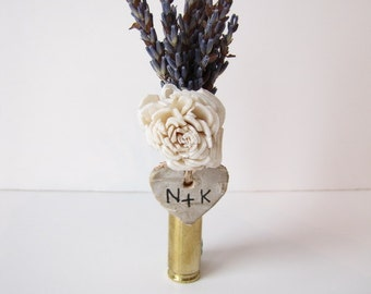 Birch Bark Heart - Boutonniere Accessory