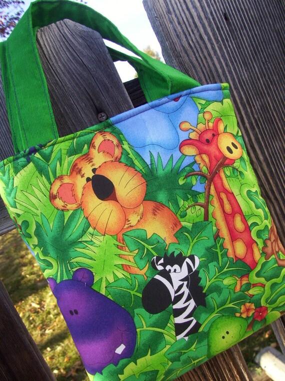 Jungle Animals Toddler Totebag