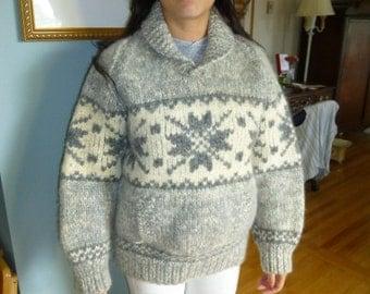 Cowichan Wool Sweater Size 6 to 8