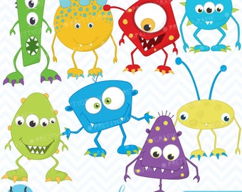 monster clipart commercial use, vector graphics, digital clip art, digital images - CL391