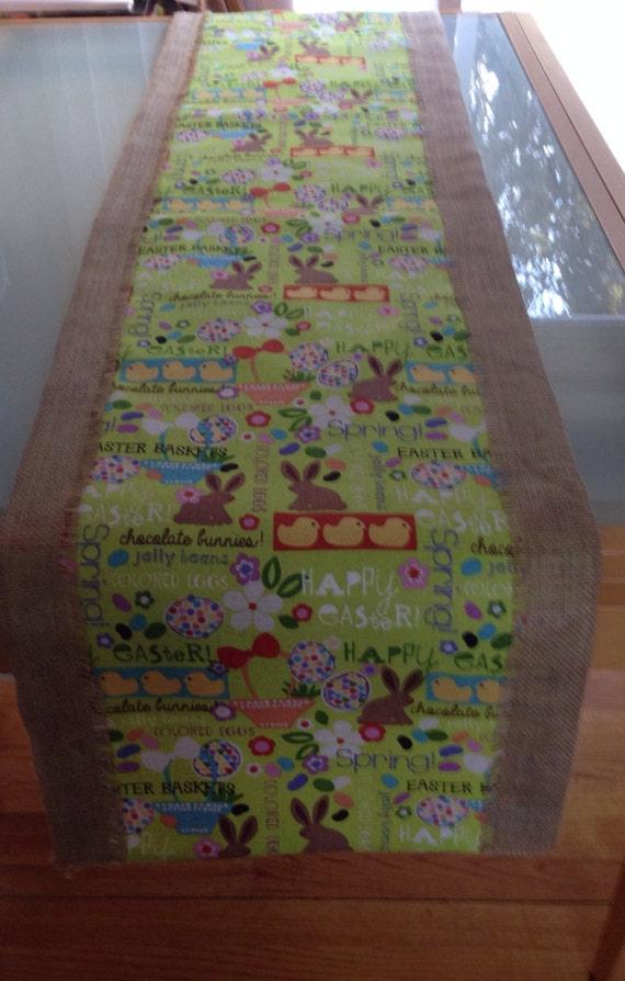 runner etsy runner easter table  Easter table