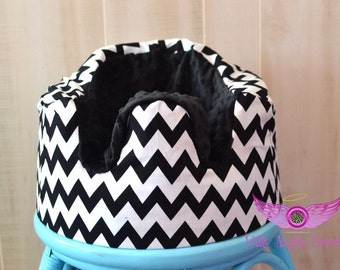 Black and White Chevron Bumbo Seat Cover