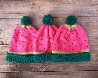 WATERMELON beanie (Made to Order)