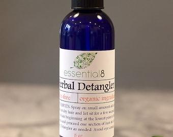 Organic Hair Spray Detangler, Leave-In Conditioner, Color Safe, Great for Kids