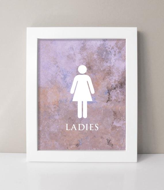 purple bathroom decor bathroom art prints ladies bathroom. Black Bedroom Furniture Sets. Home Design Ideas