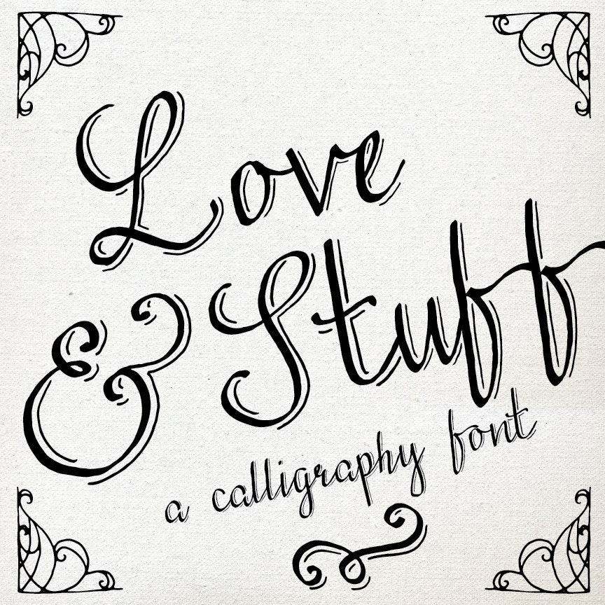 Calligraphy font download hand drawn pen graphic design