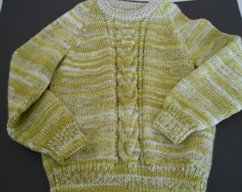 Childs Jumper, Greens, Size 5-6