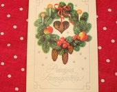 Vintage Christmas postcard, 1990's