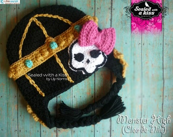 Monster High hat, Cleo de Nile hat, Monster High Inspired hat, Cleo de Nile Character