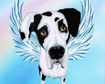 Great Dane - Great Dane Angel - Harlequin Great Dane - Dog Angel - Dog Memorial - Dog Breeds - Pet Memorial - Rainbow Bridge - Weeze Mace