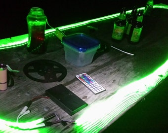 Camping Battery Operated LED Strip Light KIT - 44 key Remote Control 8 ft