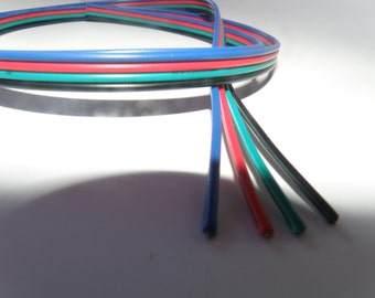 50' of 4 pin wire for use with RGB LED Strip Light projects.