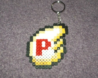 Super Mario P-Wing keychained perler sprite
