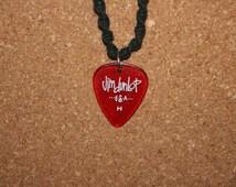 Black Hemp Necklace with a Jim Dunlop Gel Guitar Pick Charm