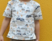 Sewing pattern The Kieran Shirt  boys pdf sewing pattern, children's sewing pattern sizes 2 to 12 years. Easy to sew pattern
