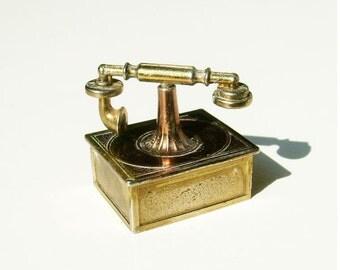 Vintage Miniature Telephone, Doll House Miniature