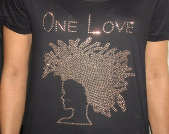 Afrocentric Tee  Shirt One Love