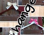 TEN wedding hangers / SHIPS From USA / Personalized Wedding Hanger / Brides Hanger