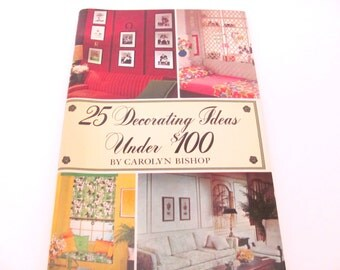 Vintage Decorating Book, 1960's Decorating Ideas Booklet, Mid Century Home Decorating