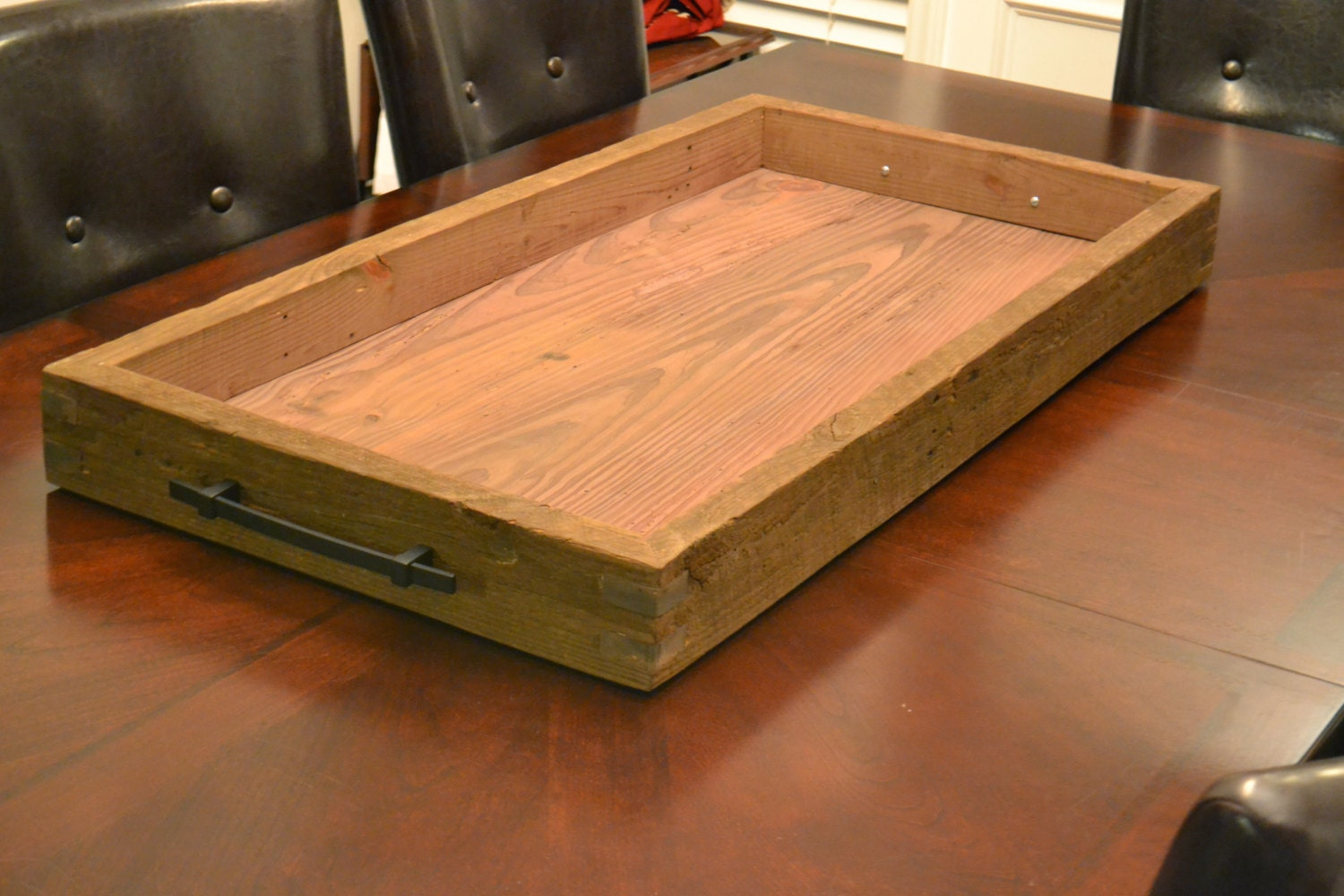Ottoman reclaimed wood tray by sawdustcreation on etsy