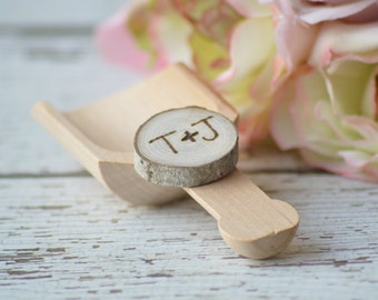 rustic candy scoops, woodland wedding candy bar scoops,  country wedding candy , personalized favors