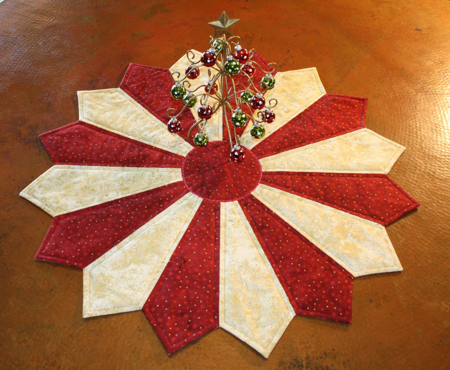 Christmas table topper centerpiece decoration