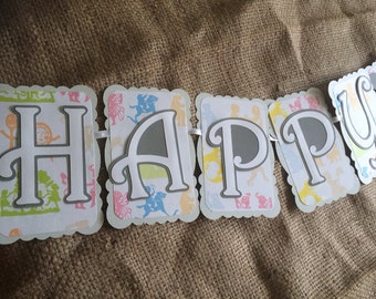 Nursery Rhyme Party Banner, Happy Birthday Banner